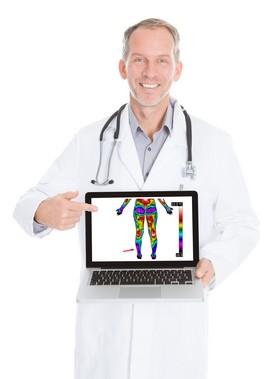 Beknelling van een hogerop gelegen zenuw kan pijn veroorzaken in het been. Dit is in beeld te brengen met medische thermografie.