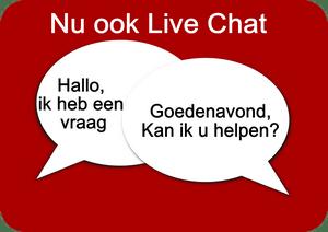 Chat live met ons ook in de avonduren en weekenden.